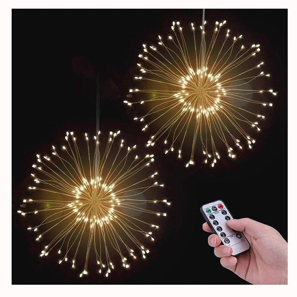 DIY LED Fee String Licht 150 LEDS Batterie Betrieben Starburst Urlaub Licht mit Fernbedienung Dekoration für Garten Zimmer Party