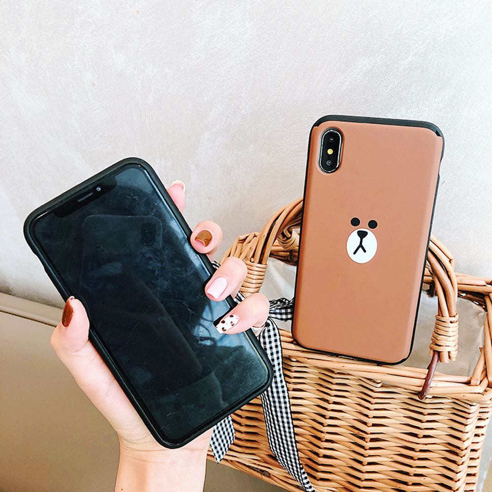 Slide-Phone-Cases-For-iPhone-6-6s-Plus-7-8-X-Xs-Brown-Bear-Make-Up-Mirror-Card-Slot-Silicone-Shockproof-Cute-Cartoon-Covers-SJ15- (7)