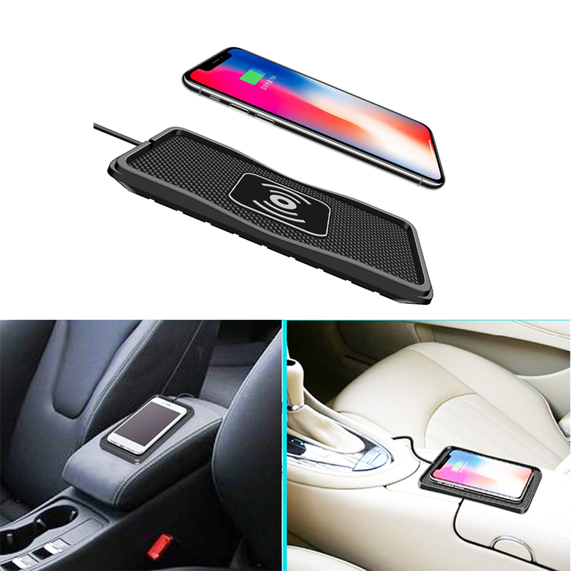XINGDUO Qi wireless USB charger car phone charging price pad for samsung 10W fast qi phone charger station dock for iPhone X S8