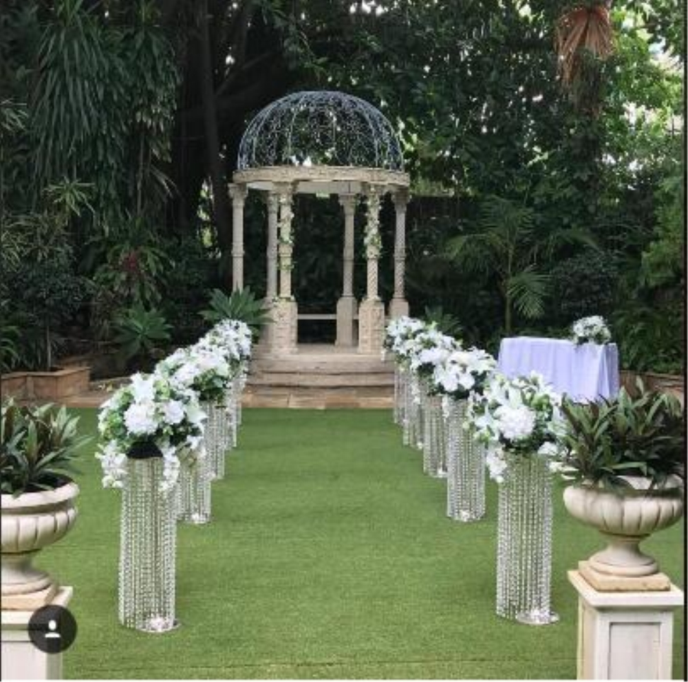 wedding : 6PCS 120CM  47inch Tall 22 CM Diameter Crystal Wedding Road Lead Acrylic Centerpiece For Event Party Decoration