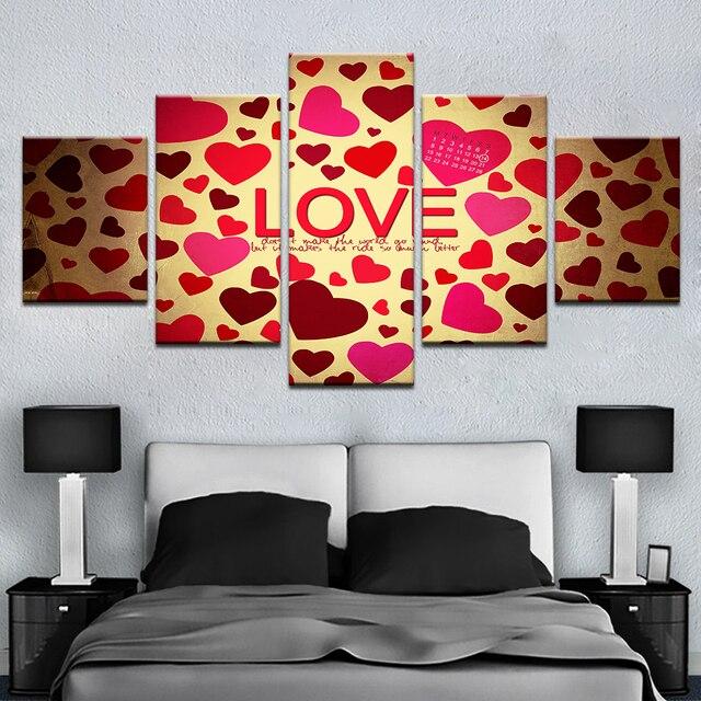 Arte moderno de la pared de la lona poster Marcos amantes Sala ...