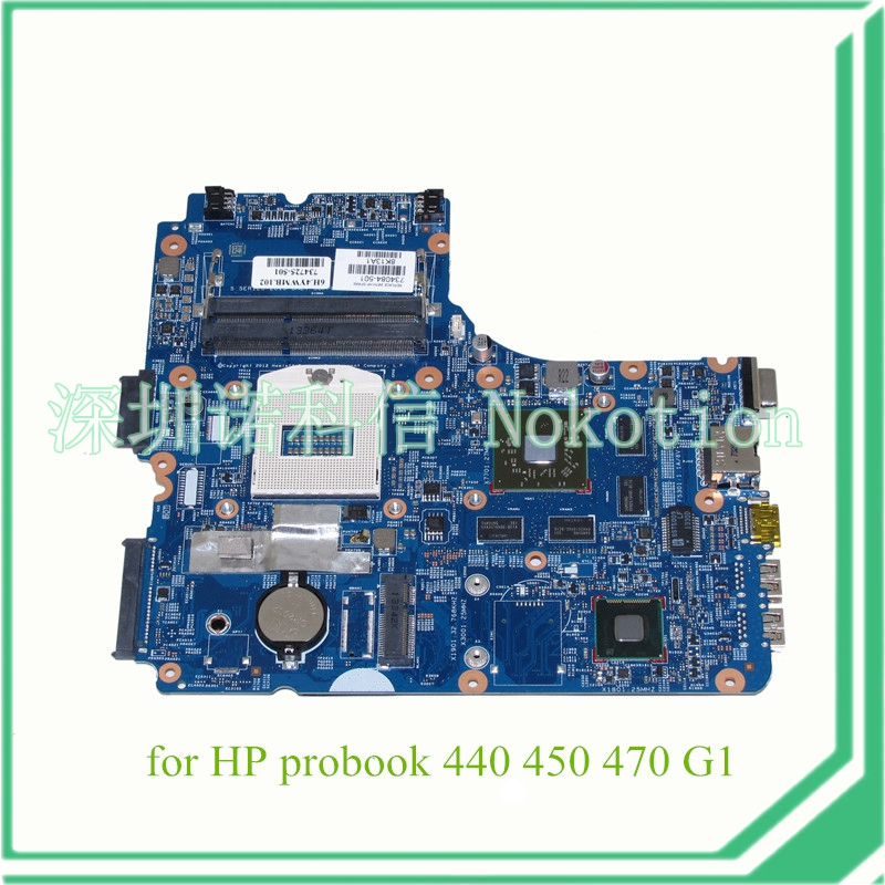 NOKOTION 734084-001 734084-501 for hp probook 440 <font><b>450</b></font> 470 laptop motherboard 12241-1 48.4YW03.011 8750 Graphics image