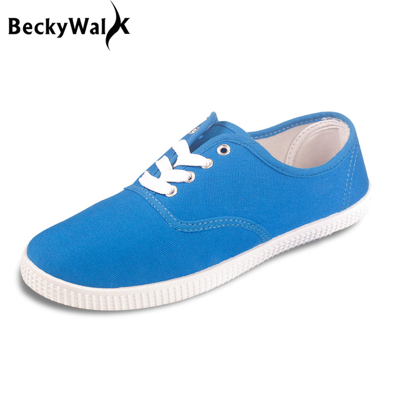 b5a656c3b5b Candy color zapatos mujer plus size canvas shoes casual ladies shoes women  shoes lace-up lovers flat shoes woman flats 40 41 42