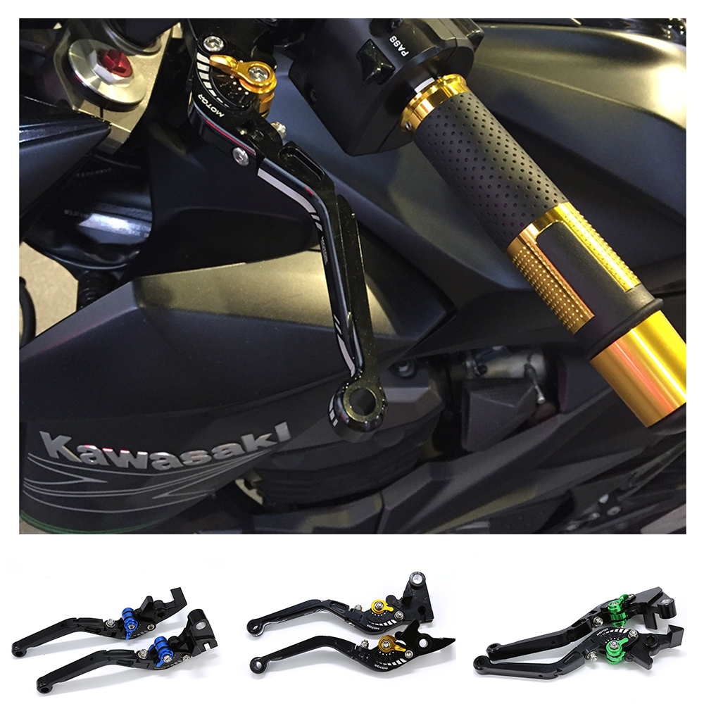 For Kawasaki Z750 Z800 2013-2017 Motorcycle Accessories CNC Aluminum Alloy Adjustable Folding Extendable Brake Clutch Levers bjmoto motorcycle adjustable cnc aluminum brakes clutch levers set motorbike brake for kawasaki z800 e version 2013 2016