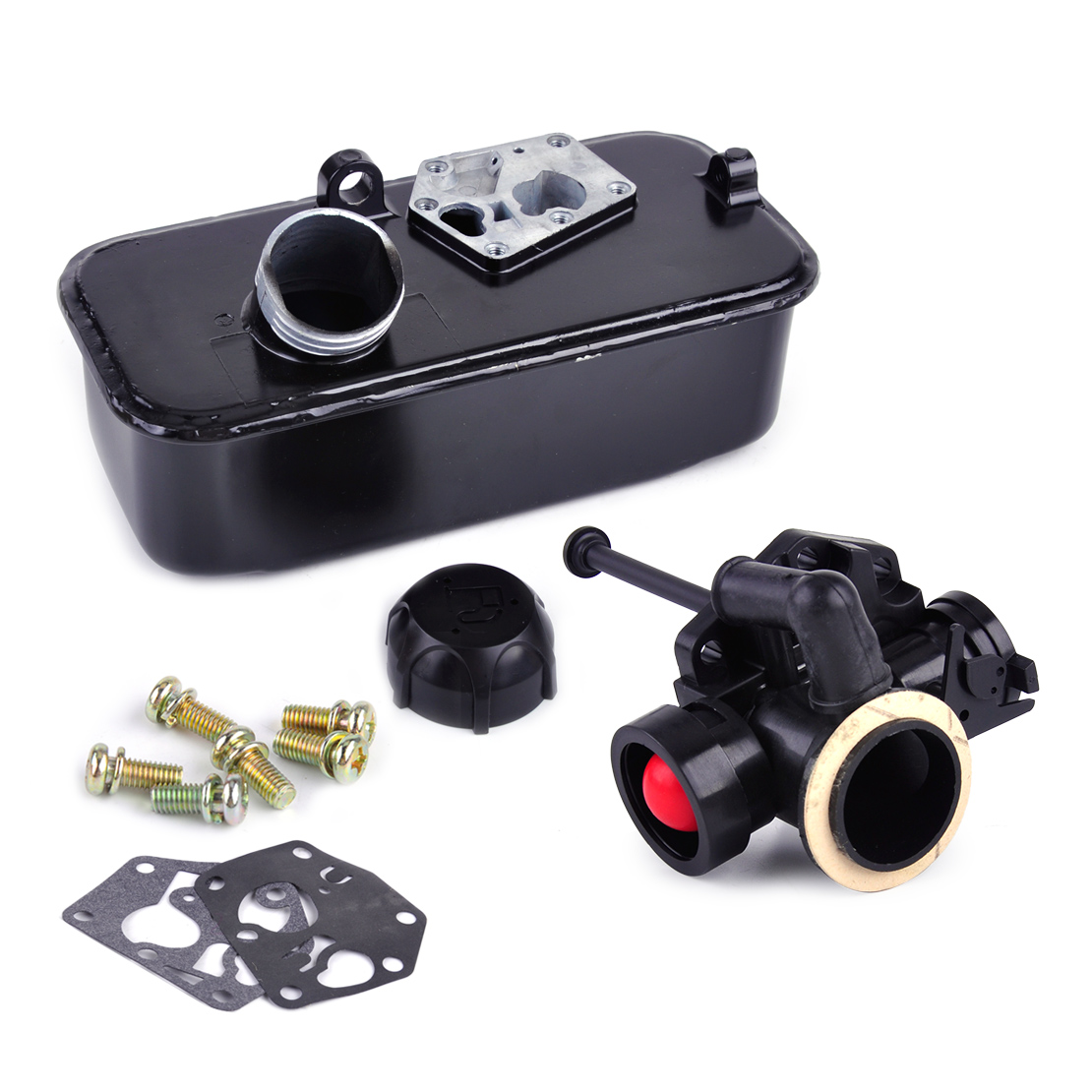 LETAOSK Mower Fuel Gas Tank Carburetor Assembly fit for Briggs & Stratton Replaces Engines Part 494406 498809A 498809LETAOSK Mower Fuel Gas Tank Carburetor Assembly fit for Briggs & Stratton Replaces Engines Part 494406 498809A 498809