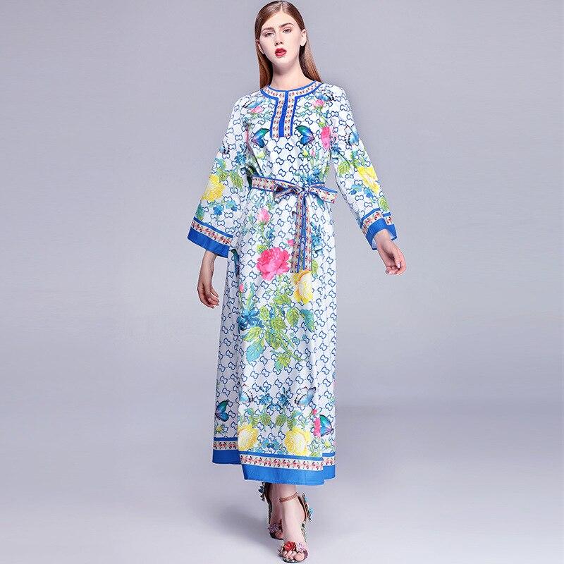 Plus Maxi Imprimé Partie De Femmes Lâche Piste Designer 3xl Longue Haute La Taille Split Dhl Livraison À Qualité Longues Robes Robe Des Manches Side nftYTZSSqw