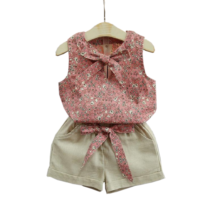 Summer Style Toddler Girl Clothing Sets Sleeveless Girls Clothes Set Kids Clothes Floral outfits Baby Girl Clothing Sets baby girl 1st birthday outfits short sleeve infant clothing sets lace romper dress headband shoe toddler tutu set baby s clothes