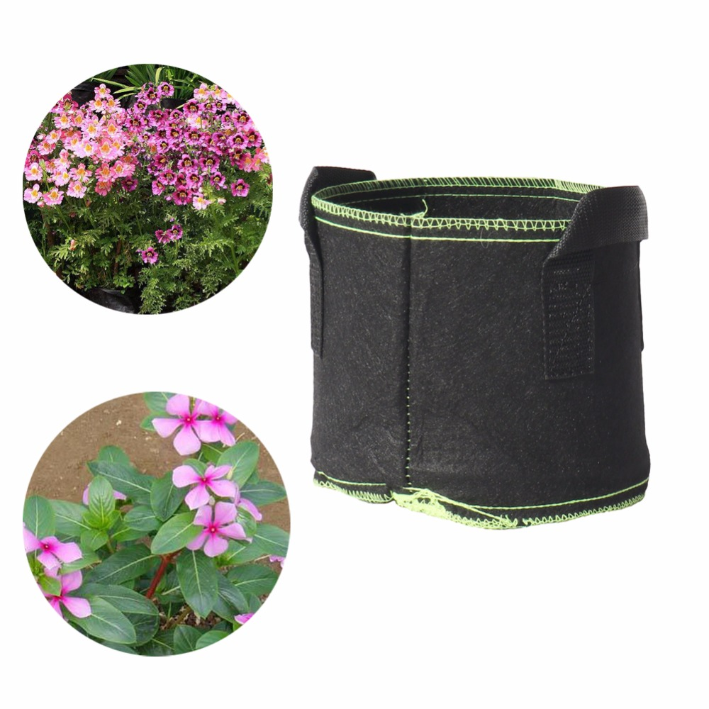 20 pcs Vegetables Flowers Potato Cultivation Grow bags Home Garden Farm Balcony Planting bag 18cmx15cm or 25cmx22cm
