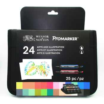 Winsor & Newton Promarker Set 24 Colors Markers Set - SALE ITEM Office & School Supplies