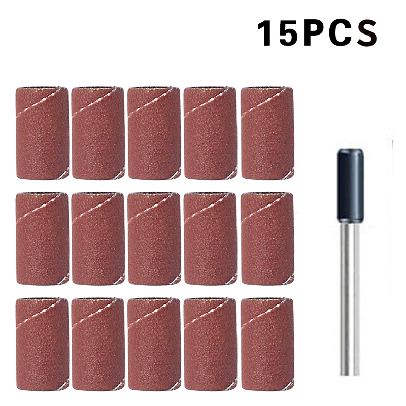 8.5mmX13mm 15 PCS Sanding Band With Drum Sander Dremel Accessories For Dremel Rotary Tools