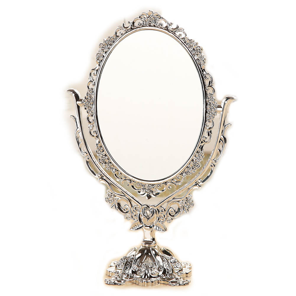 Vintage Makeup Mirror Desktop Rotatable Mirror with Butterfly Rose Vines Decor Tool European Style For Girl Birthday Gift H7JP