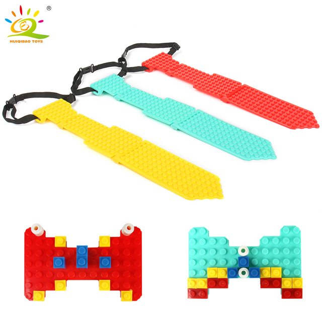HUIQIBAO Necktie Base plate building Blocks Compatible legoing classic DIY Brick friends BasePlate Educational Toys for children