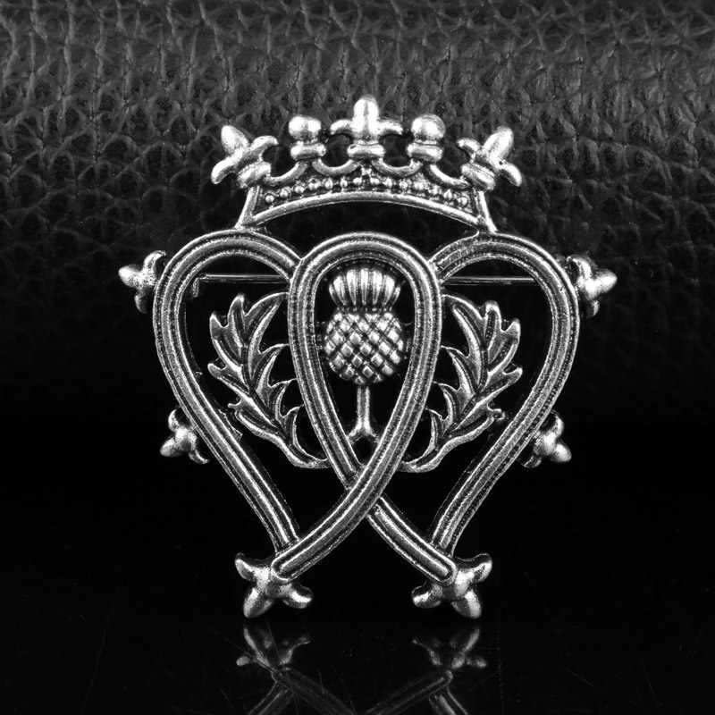Dongsheng Outlander Gioielli Scozia Cardo Spada Spille Pins Con La Moda Leone Spilla Outlander Gioielli Per Uomo Donna-40