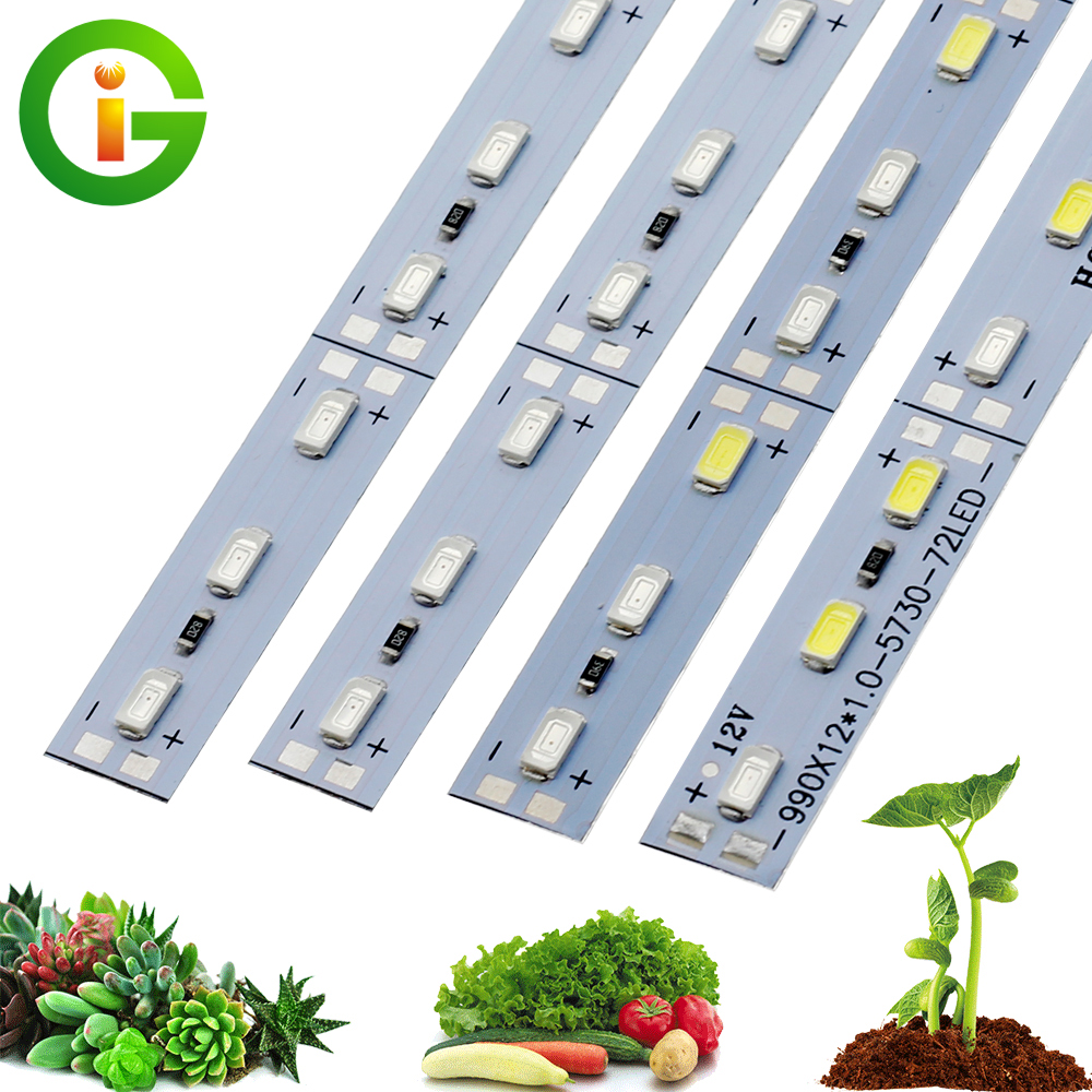 LED Grow Lights DC12V 5730 50CM LED Rigid Strip Growing Lamp Red Blue for Indoor Greenhouse Plant Flower Seedlings 10pcs/lot(China)