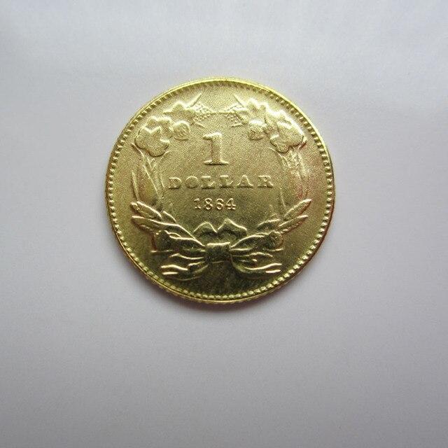 1 Gold 1864 Indische Prinzessin Gold Dollar Münzen Kopieren In 1