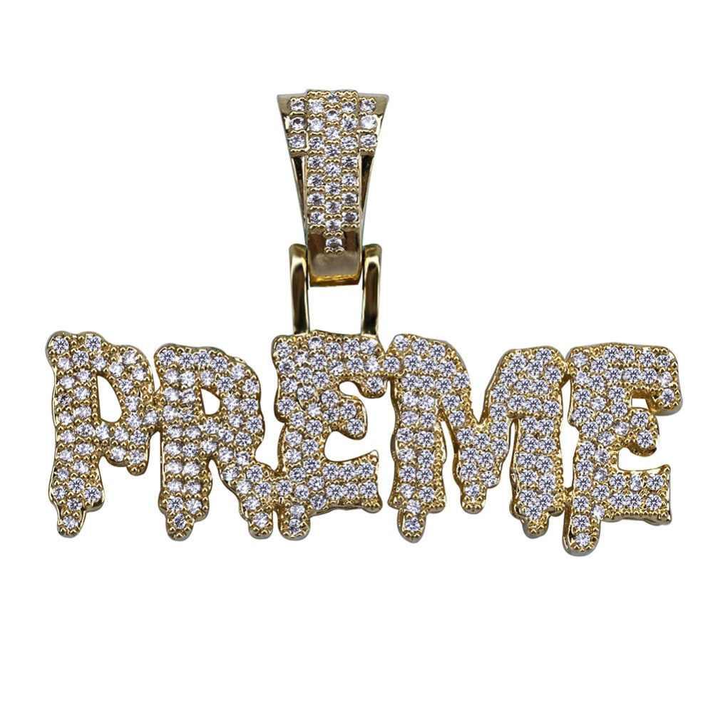TOPGRILLZ, хип-хоп, для мужчин и женщин, со льдом, Bling, кубический циркон, PREME, подвеска, ожерелье, золото, серебро, цвет, ювелирные изделия, подарки, 4 мм, теннисная цепь