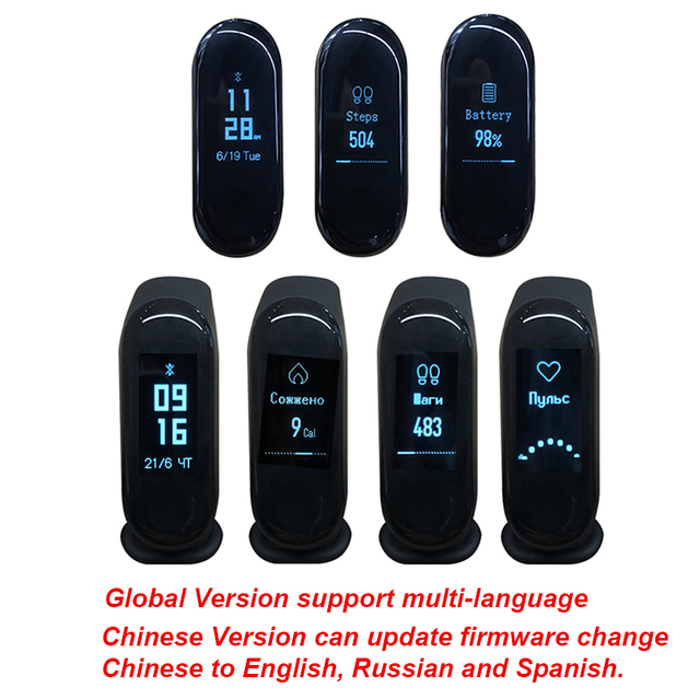 Global Version Xiaomi Mi Band 3 Miband 3 Smart Tracker Band Instant Message 5ATM Waterproof OLED Touch Screen Mi Band 3