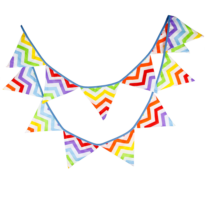 Colorful Rainbow Cotton String Flag String Banner Baby Photo Background Props Birthday Party Event Party Supplies