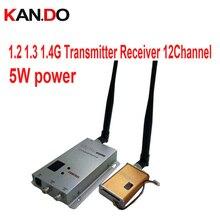 5 W 12ch 1.1G 1.2G 1.3G transceptor Sem Fio AV para cctv 1.2G Transmissor De Áudio E Vídeo de imagem transmissão transmissor FPV zangão