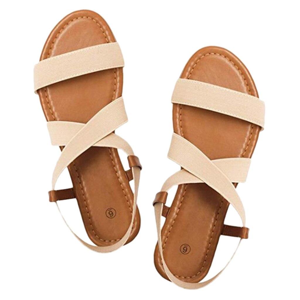 HTB1pWddasrrK1RjSspaq6AREXXaQ 2019 Women's Sandals Spring Summer Ladies Shoes Low Heel Anti Skidding Beach Shoes Peep-toe Fashion Casual Walking sandalias