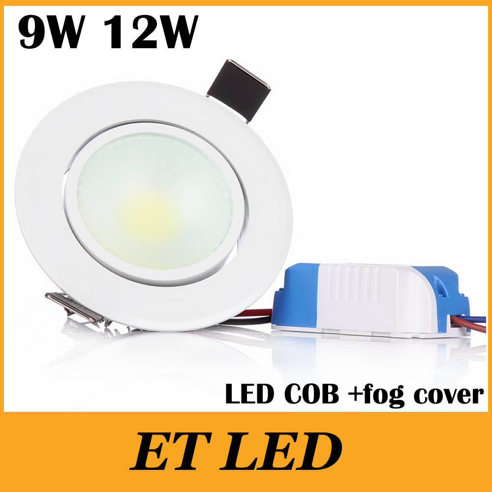 Lights & Lighting Cob Led Downlight Dimmable 9w 12w Warm/cold/nature White Spotlight Ceiling Lamp Led Bulb Lights 3 Years Warranty Epistar Chip Ce