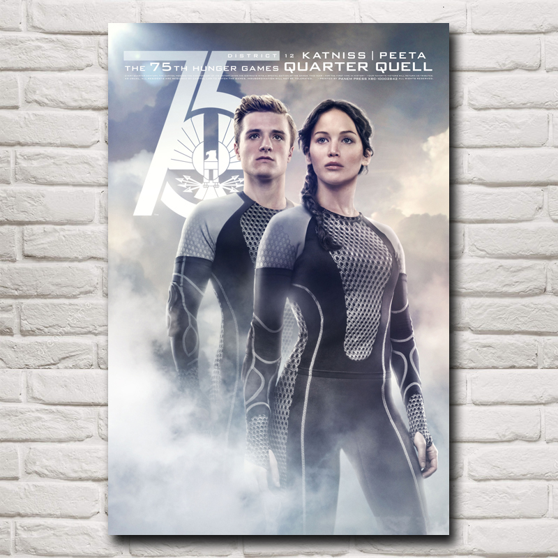 FOOCAME The Hunger Games Klassieke filmposters en prints Art Silk Print Home Decor Paintings On The Wall Decoratie Foto's