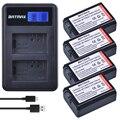 4pc NP-FW50 NP FW50 FW50 Batterie + LCD USB Dual Ladegerät für Sony A6000 5100 a3000 a35 A55 a7s II alpha 55 alpha 7 A72 A7R Nex7 NE