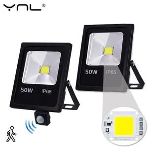 Image 1 - Motion Sensor 220V 10W 30W 50W LED Flood Light Waterproof IP65 Reflector Floodlight Lamp foco Led Exterior Spot Outdoor Light