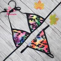 Pacento Hot Colorful Leopard Mini Bikini Brazilian Beach Micro G String Swimsuit Sexy Women Swimwear Female Bathing Suits Plavky