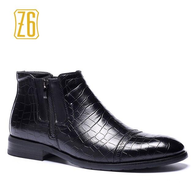 39-48 degli uomini di marca stivali Z6 di Alta qualità bello confortevole in pelle Retrò martin stivali # R5283-1 # R5286-3