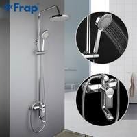 FRAP shower Faucet wall mounted brass shower faucets bathroom rainfall shower sets concealed handle waterfall faucet griferia
