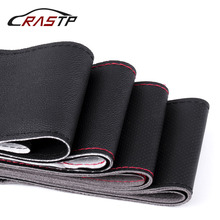 RASTP-DIY Steering Wheel Covers/Soft Fiber Leather braid on the steering-wheel of Car With Needle and Thread  RS-STW014-Normal