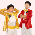 New boy child costume Moderator children dress Sequined suit Chorus clothing Stage Costumes paillette Singer Suits