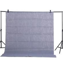 Cy venda quente cinza 1.6x2m algodão, não poluente têxtil musselina fundo estúdio fotografia tela cromakey pano de fundo