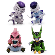 4 PCS/Set Anime Dragon Ball Z Majin Kid Buu GK Cell Frieza PVC DragonBall Action Figure Model Toy Christmas Gift For Children dragon ball z action figure majin buu with aura figure zero pvc figure toy anime dragon ball super buu collection model diy109
