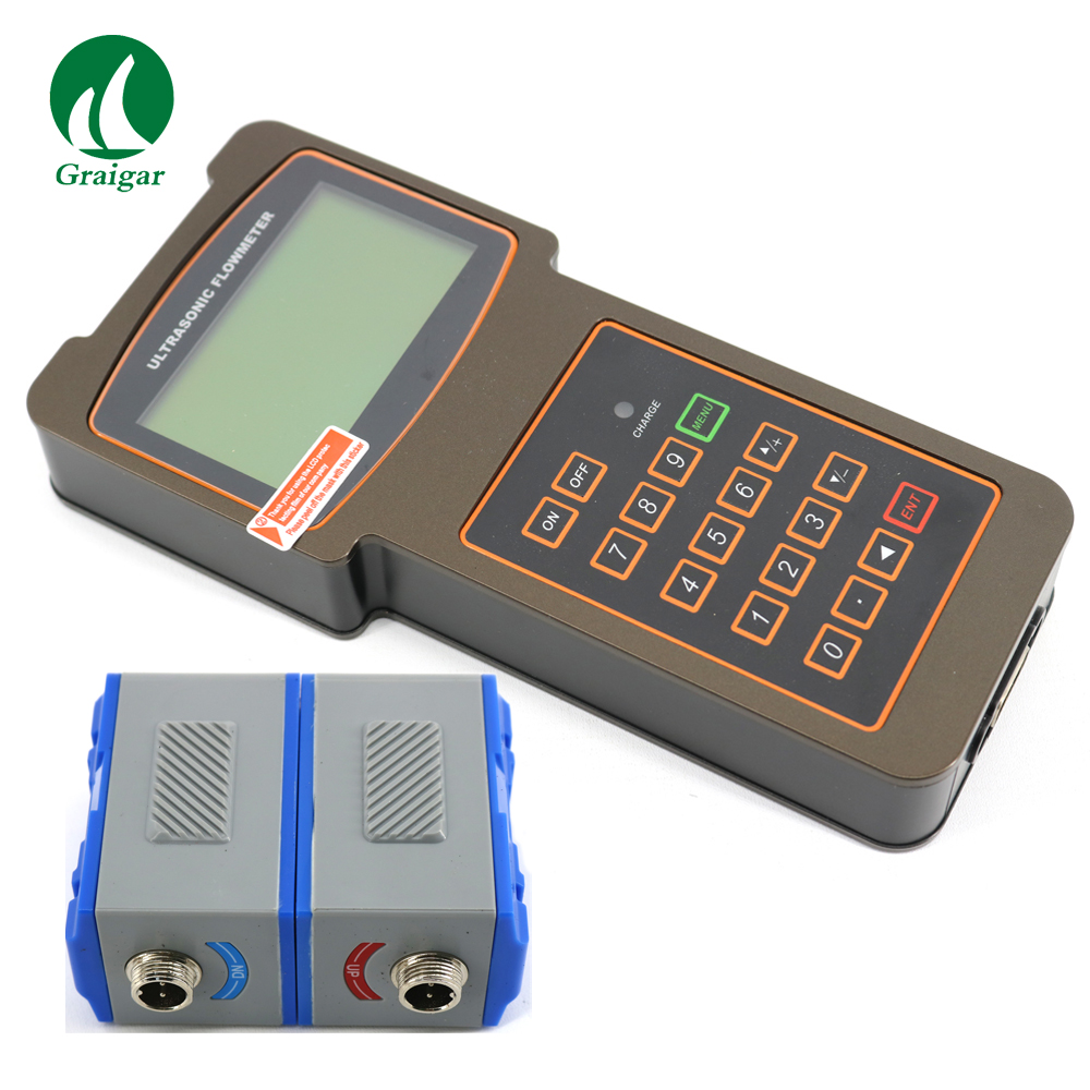 TUF-2000H Portable Liquid Flow Meter Ultrasonic Flowmeter With TM-1 Sensor For Pipe DN50-700mm