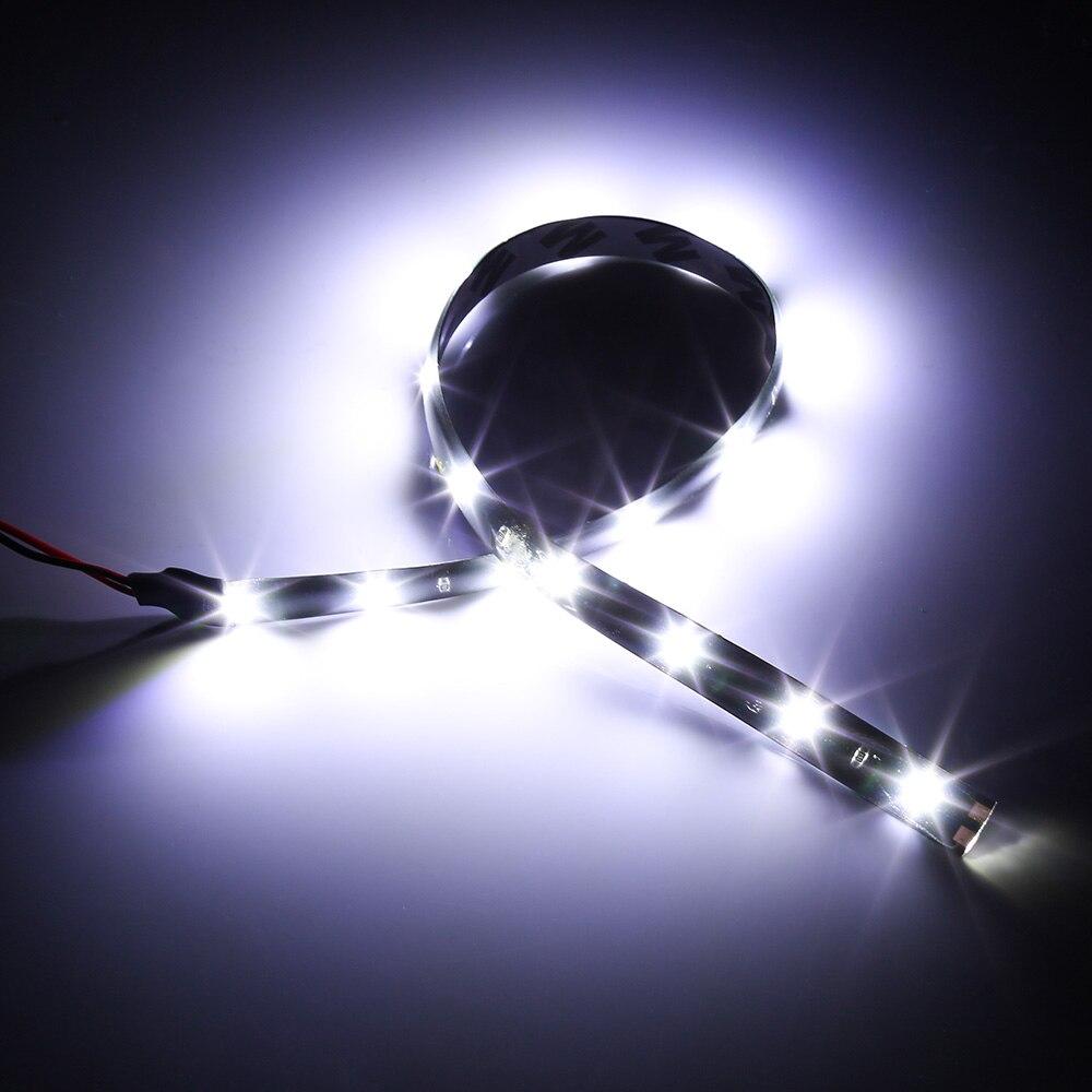 HTB1pWetXED1gK0jSZFGq6zd3FXaT Waterproof Car Auto Decorative Flexible LED Light Strip 12V 30cm 15SMD Car LED Daytime Running Light Car LED Strip Light DRL