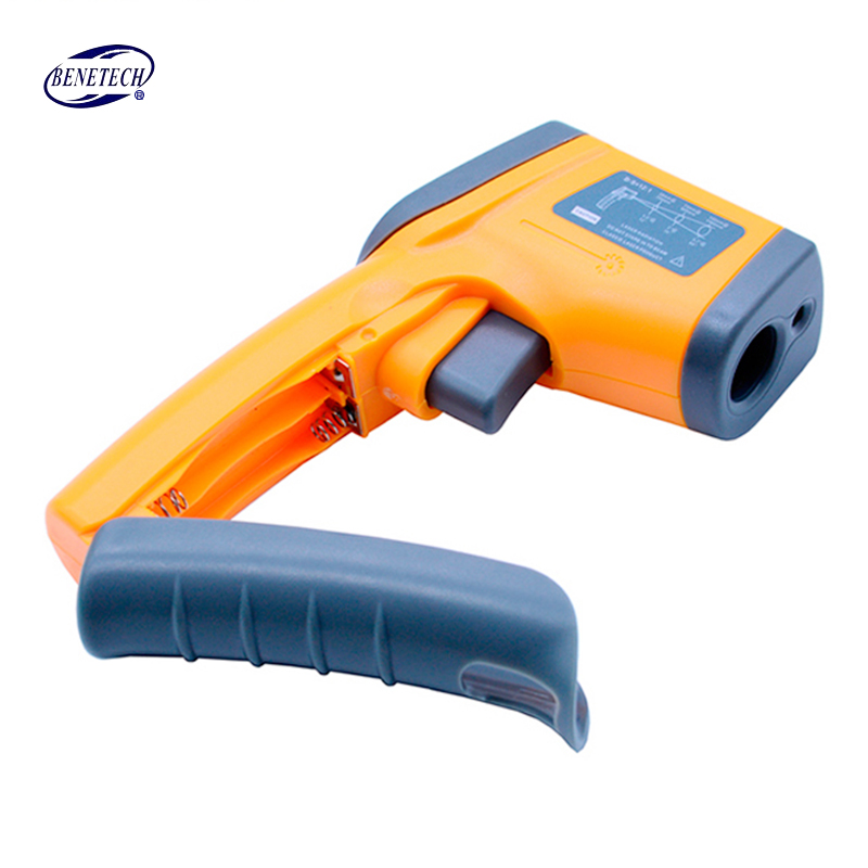 Infrared thermometer GS320 Digital Laser LCD Display Non-Contact IR Infrared Thermometer -50-360 Degree Auto Temperature Meter 1pc colorful lcd display infrared thermometer non contact digital ir laser thermometer 30 300degree for bside btm21a