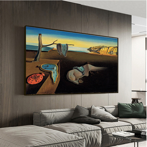 Salvador Dali The Persistence of Memory Clocks Surreal Canvas Print Painting Poster Art Wall Pictures For Living Room Home Decor(China)