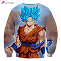 Sportlover New Women Men Casual Sweatshirts Classic Anime Dragon Ball Z Super Saiyan 3D Goku Sweatshirt Galaxy Hoodies