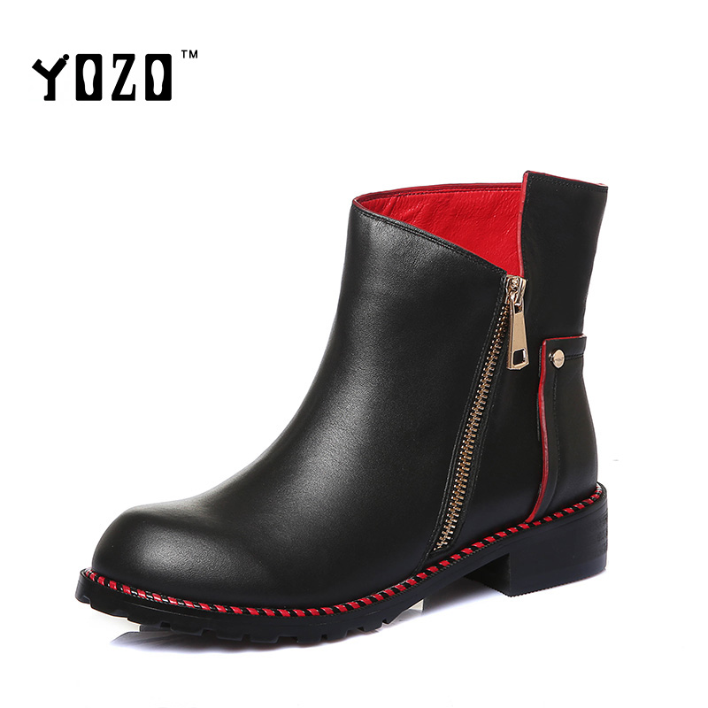 yozo boots fashion luxury genuine leather chelsea