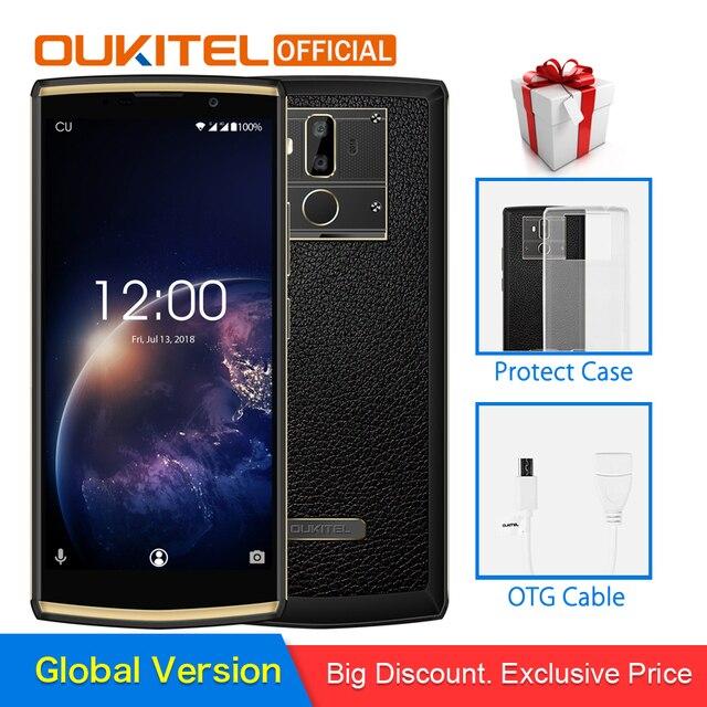 "OUKITEL K7 Power 2G RAM 16G ROM Mobile Phone Android 8.1 MT6750T Octa Core 6.0"" HD+ 13.0MP+2.0MP 10000mAh Fingerprint Smartphone"