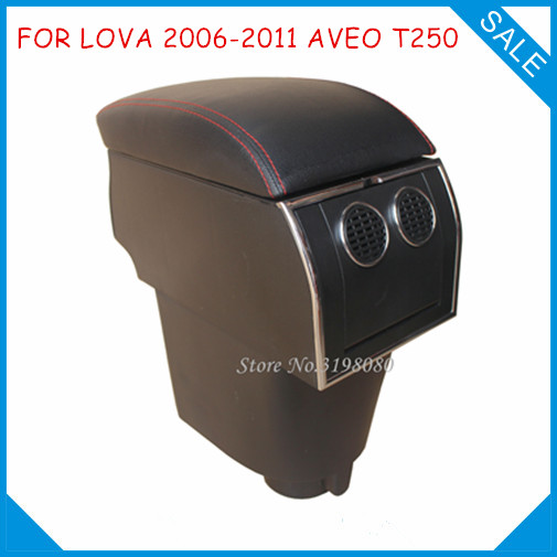 цена на FOR Chevrolet LOVA 2006-2011 AVEO T250 8pcs USB Armrest,Car center arm rest console box with hidden cup holder Car Accessories