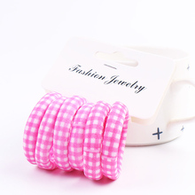 Fashion  6PCS/Set Elastic Candy Color Heart Headband Scrunchy Hair Accessories Girls Rope Beautiful Flower Ponytail