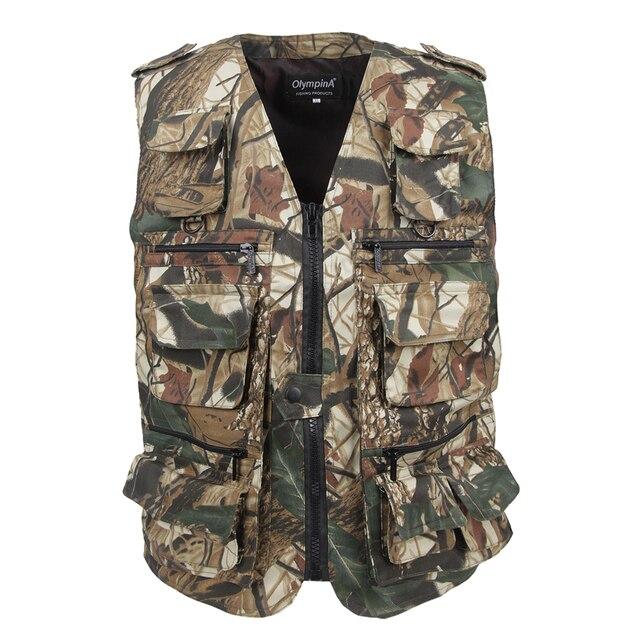 2017 Colete Masculino Men's Colete Tatico of Camouflage vest  Plus size 5XL