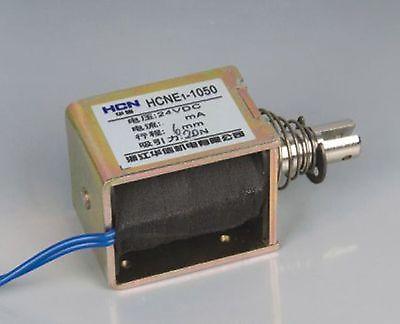 24V Pull Hold/Release 6mm Stroke 6.3Kg Force Electromagnet Solenoid Actuator 24v pull hold release 10mm stroke 6 3kg force electromagnet solenoid actuator