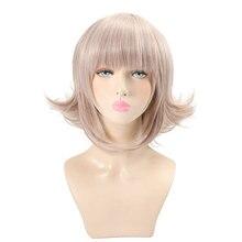 HSIU Super DanganRonpa Cosplay Wig Chiaki Nanami Costume Play Woman Adult  Halloween Anime Game Hair Free Shipping