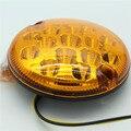 2 unids 95mm ámbar Luz de dirección trasera luces de remolque de automóviles 15 luces lED de giro de camión redondo 9-33 V Universal