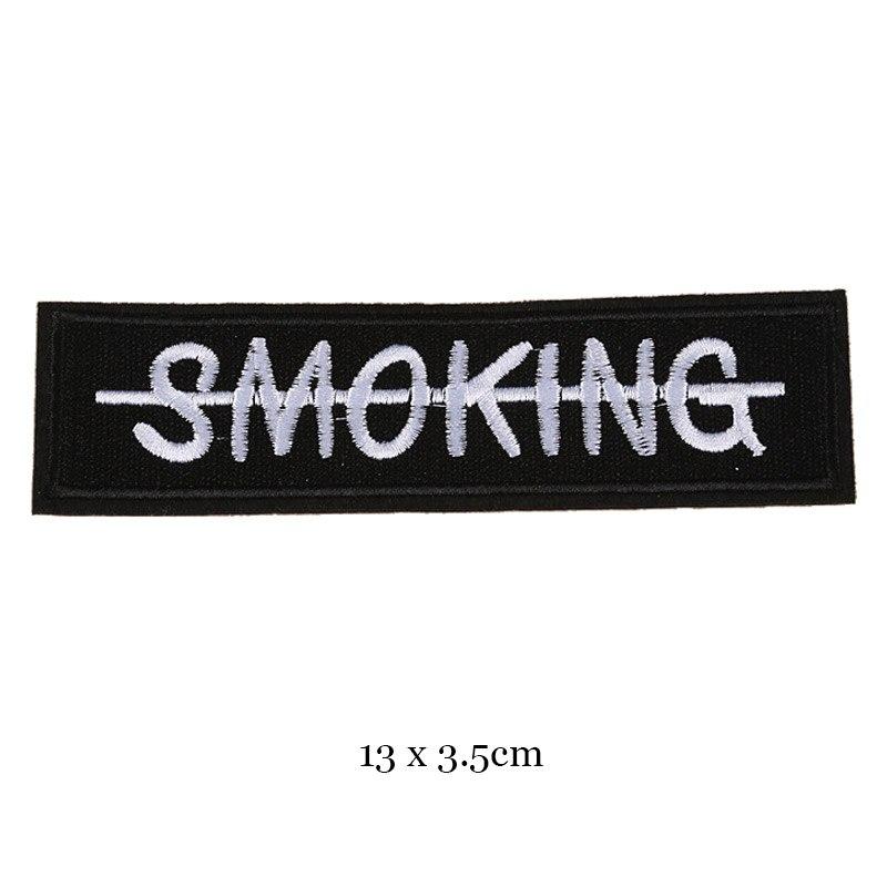 1 шт., черные, белые байкерские нашивки для одежды, железная одежда, аппликация с буквами, Череп, звезда, полосы, вышитая наклейка, круглый значок - Цвет: 44