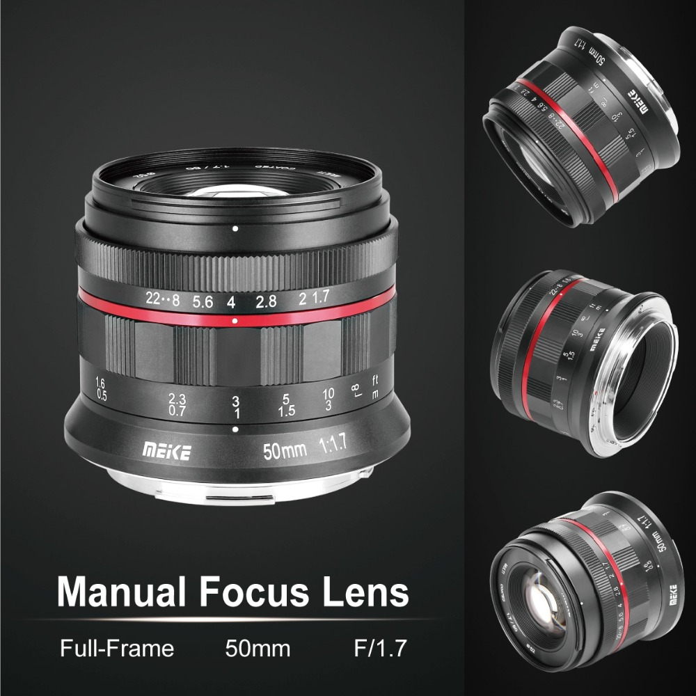 MK 50mm f/1.7 Large Aperture Manual Focus Lens for Nikon Z mount Mirrorless Cameras N Z6 Z7 with Full Frame-in Camera Lens from Consumer Electronics    3